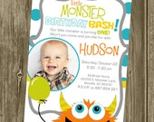 Monster Birthday Party Invitation - Photo Option