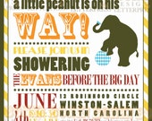 Baby Shower Invitation - Little Peanut Circus