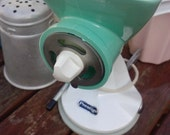 Retro 1950' 1960' Vintage Turquoise Prestiage Mincer- Kitchen Homewares