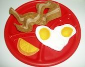 Felt Food Breakfast Set - Bacon Eggs Orange Slice