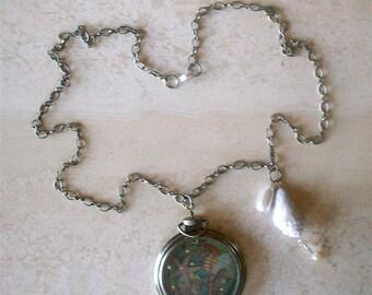 Magickal Seahorse Locket Necklace.