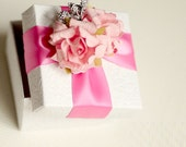Wedding Anniversary Baptism Bridal Shower Baby Shower Favors Ring Jewelry Box Handmade Personalized Gift Pink