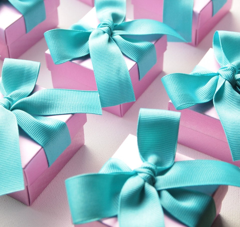 Red And Tiffany Blue Wedding Ideas: Personalized Wedding Favors Teal Purple Orchid Violet By