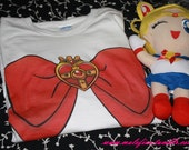 Sailor moon Bow shIrt (made to order)