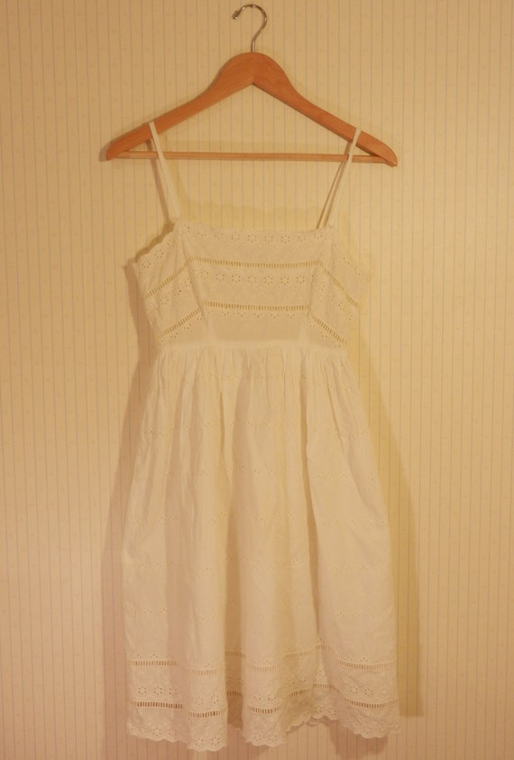 I Only Have Eyes for You White Eyelet Summer Dress