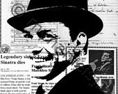 Frank Sinatra stencil art graffiti style art print