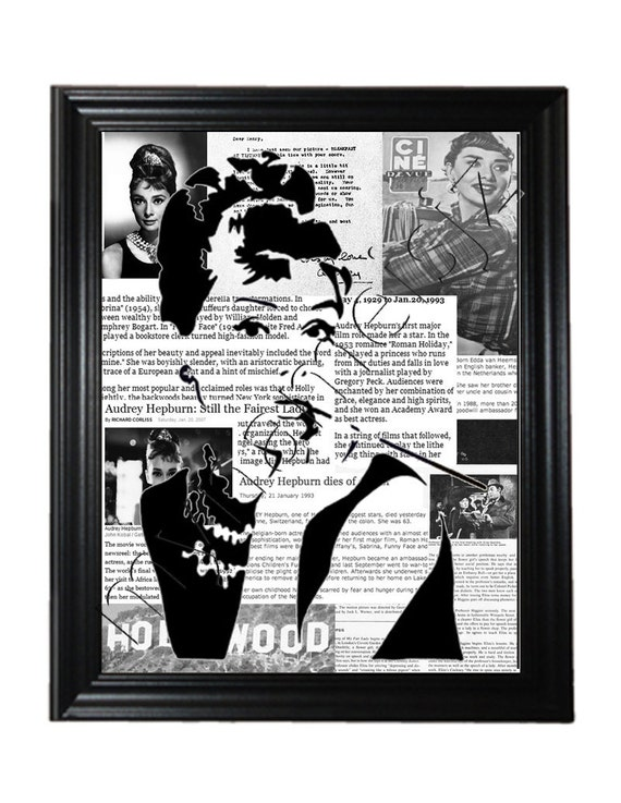 Audrey Hepburn Hollywood Print