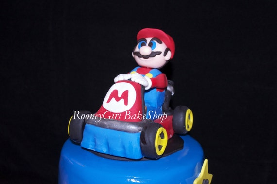 Super Mario Kart Fondant Cake Topper For Mario Brothers Cake