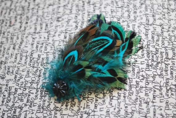 Blue Feather Clip