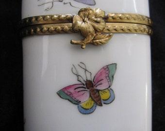 Limoges Porcelain Collectors Box hand painted