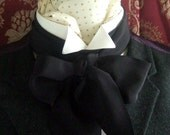 Victorian Bow Tie Cravat Ascot in Colour of Your Choice 100% Silk Crepe De Chine