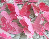 "3D Butterfly Wall Decor ""FancyPants"" - 27 double layered - butterflies"