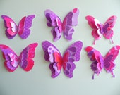 """Paper Butterflies - 18 Diecut Pieces - """"PinkPlum"""" Set"""