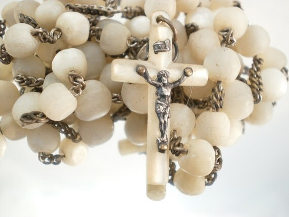 French Mother of Pearl Rosary