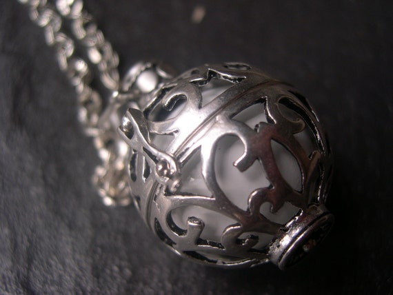 Silver Pregnancy/Maternity Necklace. Mexican Bola, great Christmas gift