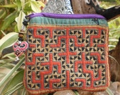 Hmong Embroided Textile HandMade Purse