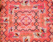 Hmong Vintage Embroided Textile Panel By The Hmong Hilltribe People
