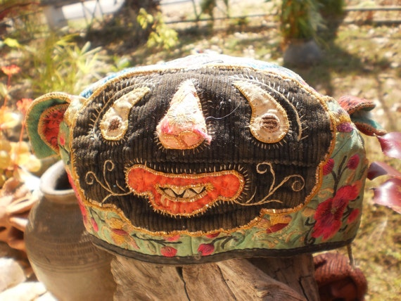 Hmong Vintage  Baby Hats Beautiful,Old and Sweet Tribal Hat