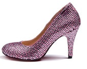 Shinning crystal shoes for Wedding or party rhinestones shoes, other colors available too