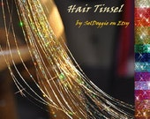 Hair Tinsel, 10 Long Strands for Festival Hair Accessory
