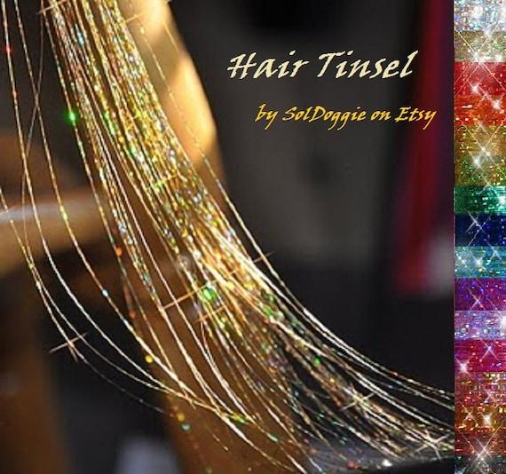 hair tinsel 10 long strands for festival hair accessory