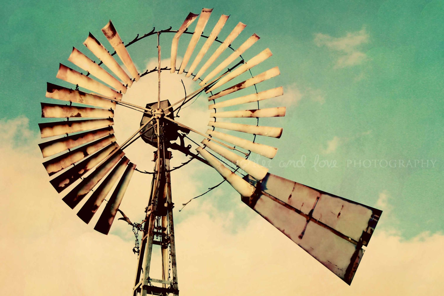 Vintage windmill photo rustic farmhouse photography aqua zoom amipublicfo Gallery