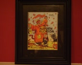 Vintage 1965 Auburn-Florida Official football program print ready for framing