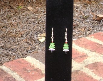 Christmas tree earrings perfect for the holidays