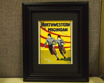 Vintage Northwestern-Michigan Official football program print ready for framing