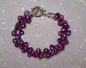 Gorgeous Purple Fresh Water Pearl Bracelet