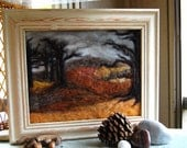 Felted Winter Trees 8x10 Framed Picture