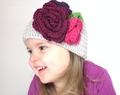 Livia - Bouquet Toddler/Girl Hat sizes  12-24m & 2T-4T