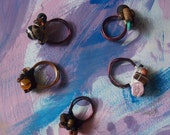 wood/bead wrapped coil rings