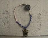 Handmade woven owl bracelet