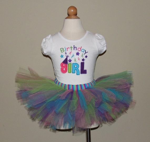 Cute Birthday Girl Tutu Set for baby or toddler.