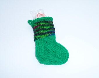 Christmas Stocking Ornament, Christmas Sock, Mini Stocking, Christmas Ornament, Holiday Ornament, Package Topper, Ready to Ship