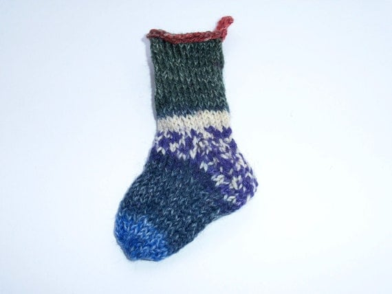Christmas Stocking Ornament, Mini Christmas Stocking, Christmas Ornament, Christmas Sock, Christmas Decoration, Mini Sock