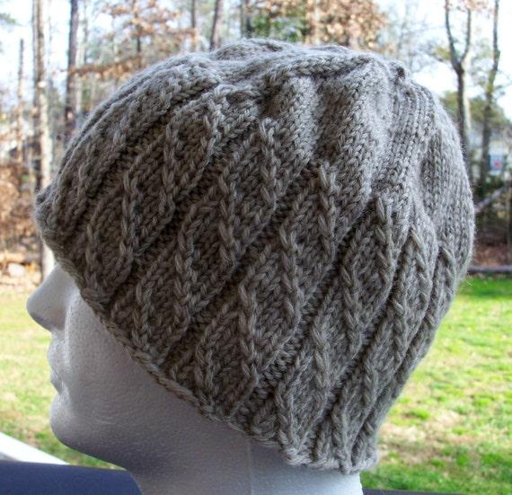 Hand Knit Hat - adult, large, unisex