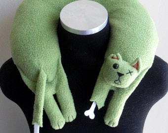 Zombie Cat Travel Neck Pillow