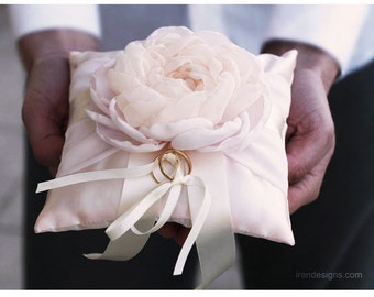 Ring Pillow. Light Pink Wedding Ring Pillow