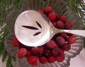 TOMATO - CRANBERRY Sauce SERVER - Mid Century Style - Vintage Silverplate - Silver Sands by Community - Holidays - Weddings - Under 20