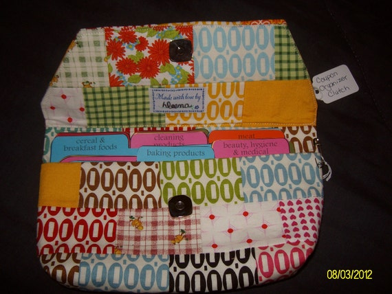 Coupon (organizer) Clutch in multi-color fabrics