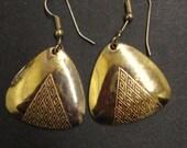 Lovely GOLD TONE EARRINGS Metal Earrings Made for Pierced Ears