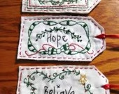 Primitive Hope, Believe, Peace Holiday  Tags