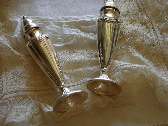 Vintage Elegant Silver Plate Salt and Pepper Shakers