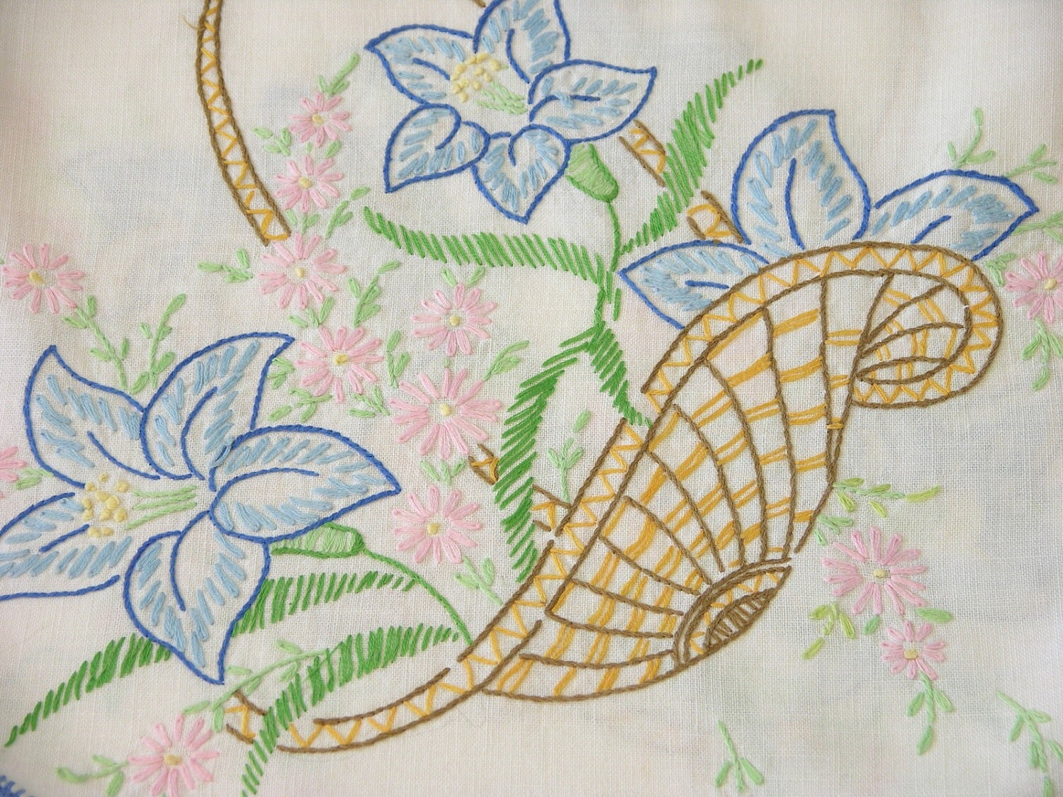 Free Flower Basket Embroidery Designs : Hand embroidery flower basket designs imgkid