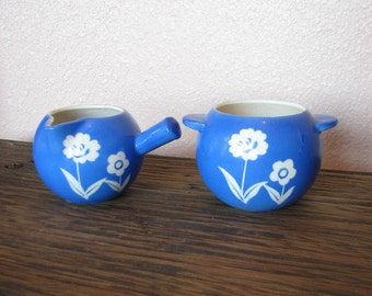 Blue Creme and Sugar Set