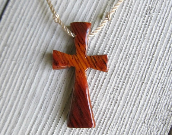 Wood Cross Jewelry - Mexican Cocobolo - Necklaces for Men