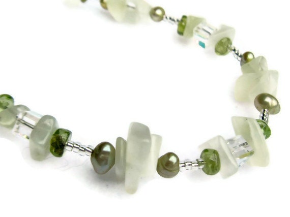 Peridot  Bracelet - Women's Jewelry - August Birthstone