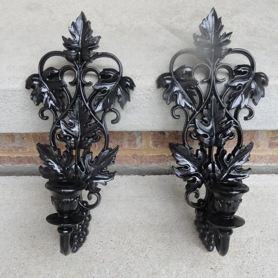 Beautiful Ornate Hollywood Regency Vintage Sconce Pair